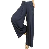 White 100% cotton wide leg pants fashion wide-leg trousers high waist loose plus size female 2013 summer casual pants