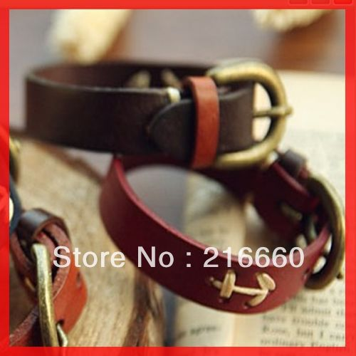 new arrival fashion anchor leather couple bracelet(China (Mainland))