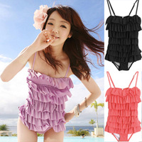 2013 summer a set  swimwear sexy solid color skirt swimwear free shipping