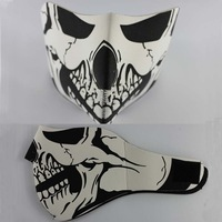 Swank Skull Black Design Reversible  Warmer Soft Comfortable Half Face Mask  Balaclava Skiing Snowmobilings Snowboard Neck Guard