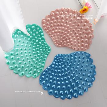 Bathroom bathtub slip-resistant pad mats carpet bath mat pad Large cobbier suction cup