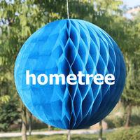 "6"" Blue Tissue Honeycomb Ball Paper Lanterns Home Garden Party Wedding Birthday Bridal Decoration Gift Free Shipping"