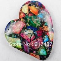 D0045 Free Shopping Beautiful Romantic Fashion Natural Sea Sediment Jasper&Pyrite pendant bead 1pcs/lot