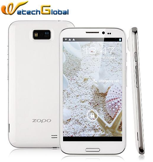 ZOPO ZP950 smart mobile phone 5.7 inch 1280*720 IPS screen MTK6577 Dual Core Android 4.1 3G WCDMA GPS Free Case & Shipping