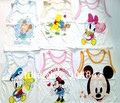 100% cotton 20pcs Baby clothes children&#39;s cartoon printing clothing wholesale children&#39;s baby vest children vest T-shirt