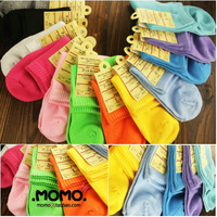 10 double thickening candy color women's sock full 100% cotton socks vintage winter