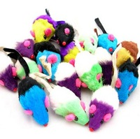 Sound Cat toy pet toy small multicolour mouse 10pcs/lot free shipping