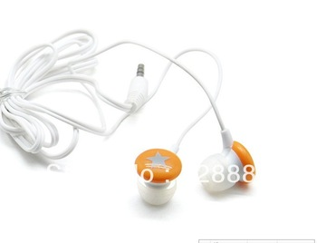 wholesale 50pcs/lot small star mini earphone in-Ear headphone small star in-ear computer mp3 telephone earphone