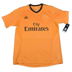 New 2014 Soccer jerseys FC real madrid orange football jersey #7 Cristiano Ronaldo uniform kits short shirts Football uniform(China (Mainland))
