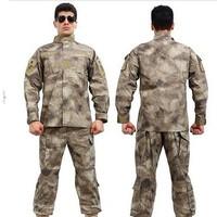 BDU A-TACS AU Camouflage suit sets Army Military uniform combat Airsoft uniform -jacket + pants