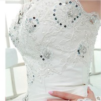 All manual nail bead luxury crystal diamond tail wedding dress