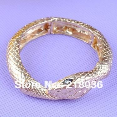 HOT 5pcs 2014 NEW Cold ARRIVAL VINTAGE STYLE ELASTIC SNAKE SHAPED BRACELET FREESHIPPING C567 DIY Jewelry(China (Mainland))