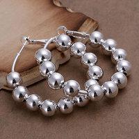 E188 Wholesale 925 silver earrings, 925 silver fashion jewelry, 8M Bean Earrings