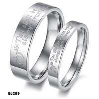 Fashion Jewelry Stainless Steel Rings Silver Circle Stamped Arrow Hearts Note Couple Rings Wedding Rings Engagement Rings GJ299
