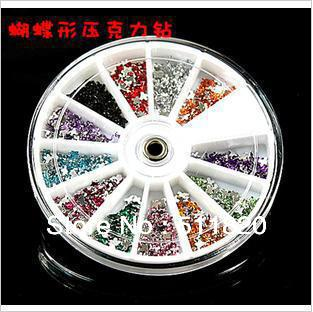 Free Shipping 3D Nail Art /Cell Phone  Rhinestones Gems 12Color  Mixed Glitter Design Bling Crystal Nail DIY Decoration