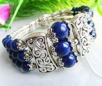 3RowsTribal Jewelry Tibet Silver Lapis Lazuli Bracelet