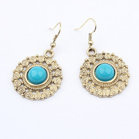 Min $20 (can mix) free shipping popular vintage exquisite decorative pattern fashion earrings