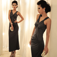 2013 Fashion new women dinner sexy long formal dress evening dress slim jumpsuit full dress