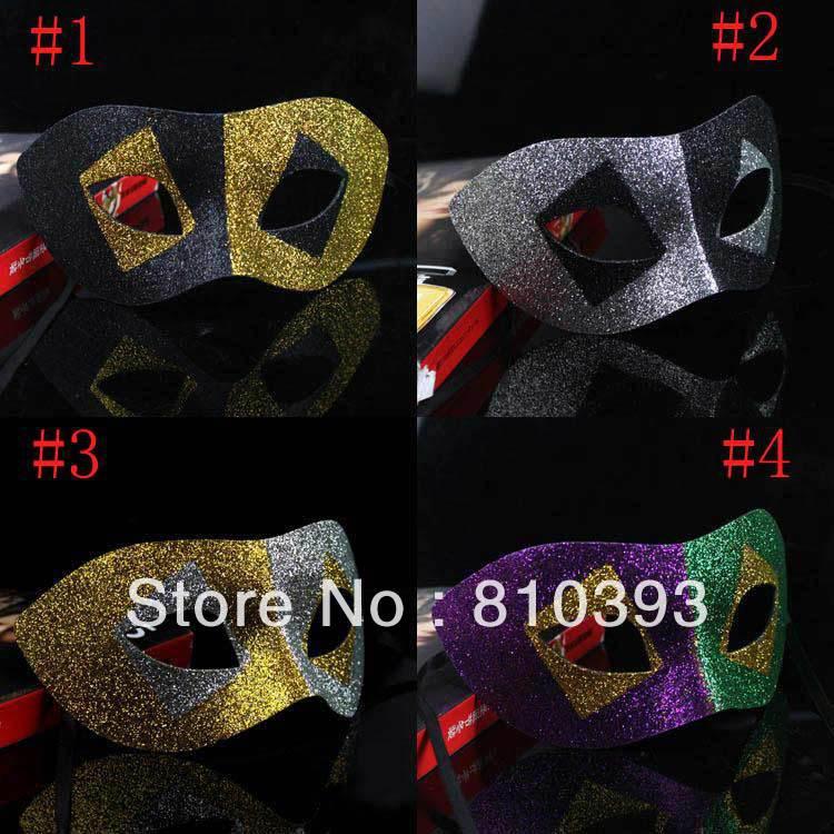 VENDA QUENTE Atacado Frete grátis Máscaras Partido Veneziano Fashion Party Masquerade para mulheres dos homens preto Prata(China (Mainland))