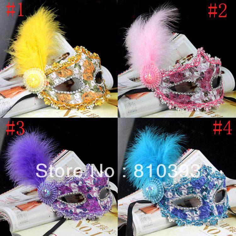 Lace Feather Frete grátis Hot venda por atacado zy01 Máscara Cristal Partido Venetian Cosplay Masquerade Halloween(China (Mainland))