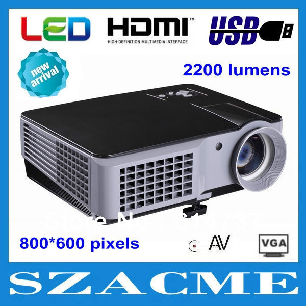 2013 New arrival high quality 2200 lumens 800x600pixels portable full HD multimedia LED video game home theater projector !(China (Mainland))