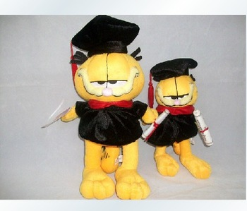 "Doctor Garfield plush Doll 10"" / 26cm :1pcs , plush toy, Good quality!  FAST SHIPPING"