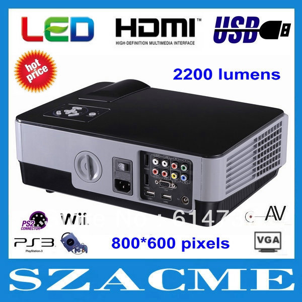 Top quality brand new 800x600pixels portable HD multimedia video game home theater projector,overhead handheld data projector(China (Mainland))