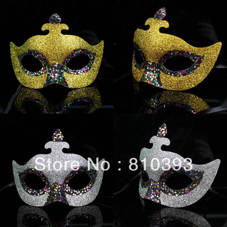 VENDA QUENTE Atacado Frete grátis Máscaras Partido Veneziano Fashion Party Masquerade para mulheres dos homens Máscara bingbing preto Prata(China (Mainland))