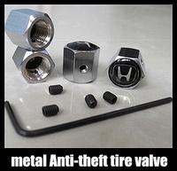 Free shipping 1set Car Logo emblem Anti-theft Tire Valve Caps for car metal Tire Valve Stem Caps easy DIY decoration