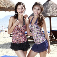 Poem 2013 vega small set women's split skirt style swimwear