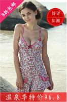 2013 goldenbarr vega the poem split skirt swimwear female hot spring