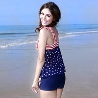 Poem 2013 vega navy style slim women's split swimwear new arrival