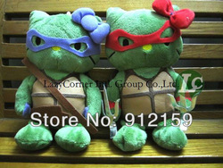 2pcs/Lot New arrival Teenage Mutant Ninja Turtles 4 brothers plush toys Cute Doll Kids Gifts Free Shipping(China (Mainland))