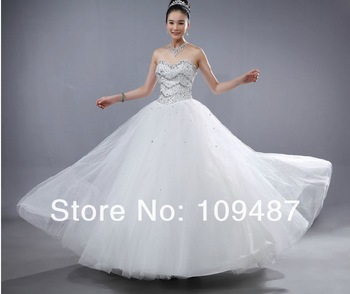 2013 latest wedding dress Qi Bra ornaments sweet wedding