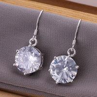 E172 Wholesale 925 silver earrings, 925 silver fashion jewelry, Zircon Earrings