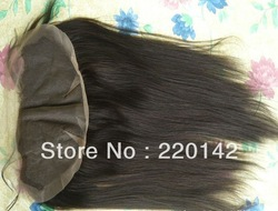 free shipping ---dark brown --#2-10inch-18inch -Yaki straight-- Indian remy hair -lace frontals(China (Mainland))