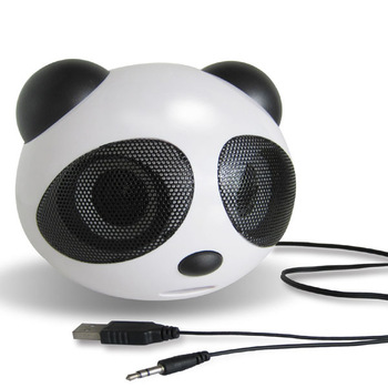 Mini cartoon panda small speaker laptop mp3 , 4 subwoofer small audio box