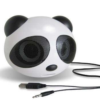 Mini cartoon panda small speaker laptop mp3 , 4 subwoofer small audio box