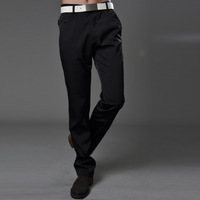 Men's clothing 2013 spring and autumn slim solid color cotton casual pants 100% mid waist casual pants