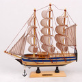Free shipping Wooden sailing boat wood handmade crafts model ship boat