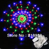New Colorful RGB 120 LED 220V Flash String Light Christmas Party Wedding