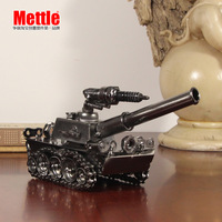 Free shipping Iron tanks model small home accessories brief modern chinese style decoration crafts