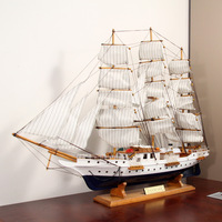 80cm sailboat ancient sailing model wooden handmade wool crafts sailboat