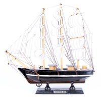 Wooden sailing boat handmade crafts ship model wood