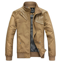 Original design 2013 men's the trend of spring clothing leather patchwork jacket male stand collar jacket outerwear male