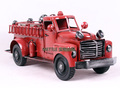 Vintage fire truck model new house decoration indoor decoration furnishings home fashion