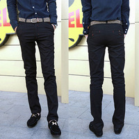 Spring slim trousers exquisite red grommet male skinny pants harem pants male casual trousers