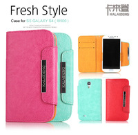 100% Original  KALAIDENG Fresh Style For Samsung Galaxy S4 i9500 leather case, galaxy s4 wallet case  Free Shipping