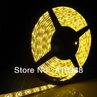LJY LED!Waterproof Yellow LED Strip 3528 SMD 300LED 5 M Flexible Lamp Light DC12V 10M/lot