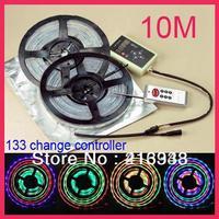 10M 300LED 2X 5M 5050 RGB LED Strip Dream Color 133 Change & IR Controller